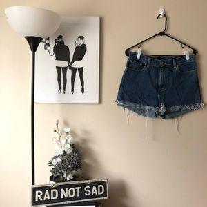 🌸Ann Taylor dark wash cutoff mom jeans